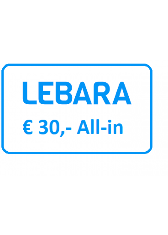 Lebara Simkaart All-in 30 euro